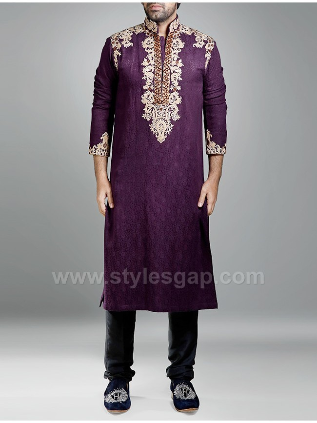 Mehndi Dresses Shalwar Kameez For Girls : Latest men mehndi dresses kurta shalwar kameez designs
