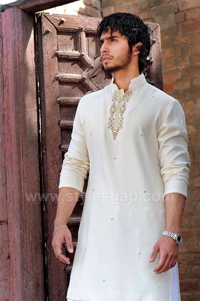 Latest Men Mehndi Dresses Kurta Shalwar Kameez Designs 2017 18