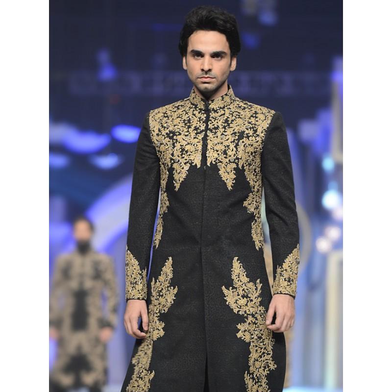 10f4a772c557 Latest Men Wedding Dresses Sherwani Designs HSY- Hassan Shehyar ...