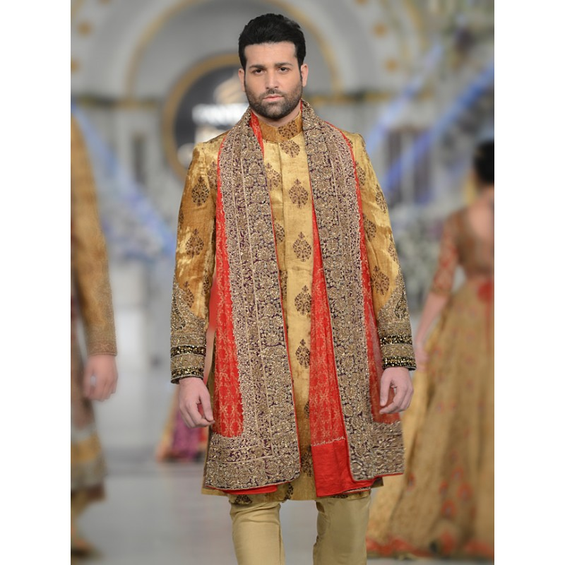 Latest Men Wedding Dresses Sherwani Designs HSY- Hassan Shehyar Yasin Collection 2015-2016 (4)