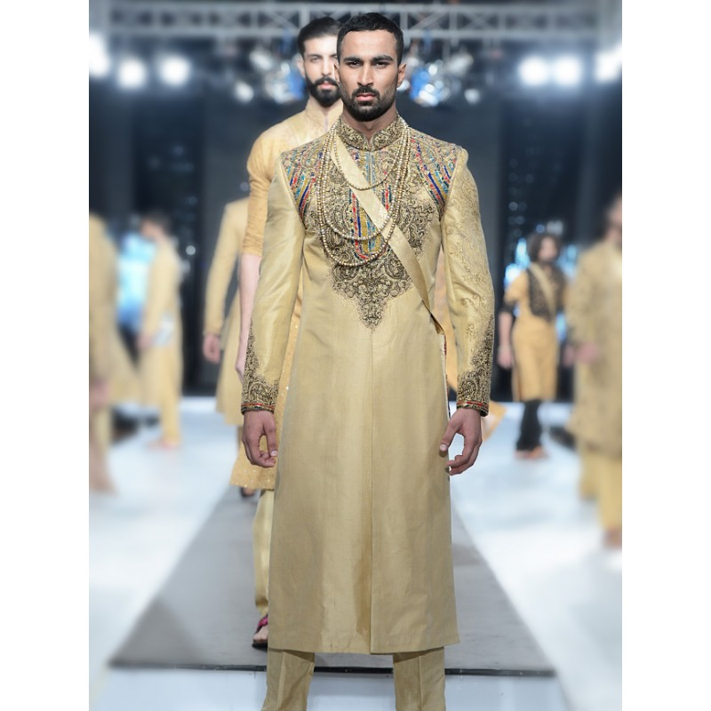 Latest Men Wedding Dresses Sherwani Designs HSY- Hassan Shehyar Yasin Collection 2015-2016 (5)
