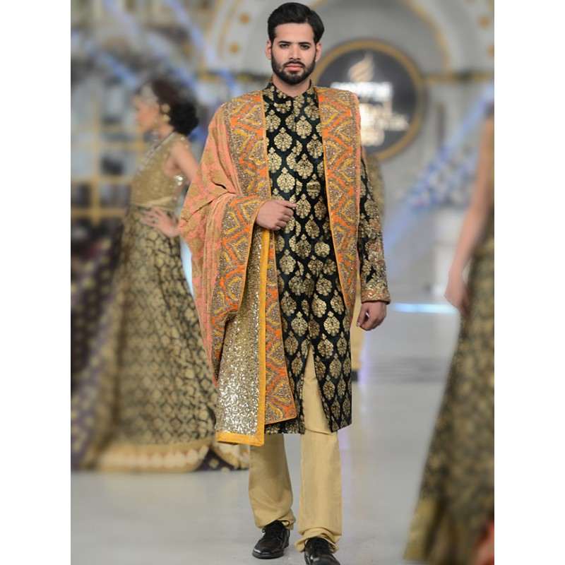 Latest Men Wedding Dresses Sherwani Designs HSY- Hassan Shehyar Yasin Collection 2015-2016 (8)
