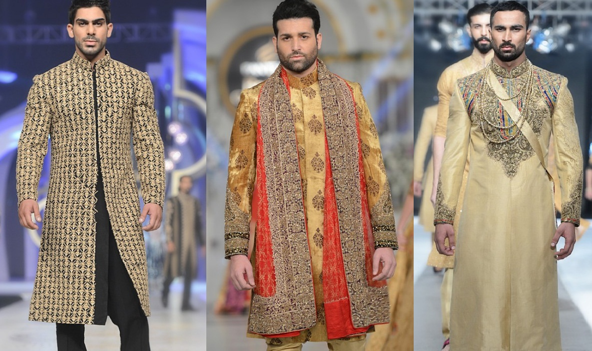 Latest Men Wedding Dresses Sherwani Designs HSY- Hassan Shehyar Yasin Collection 2015-2016