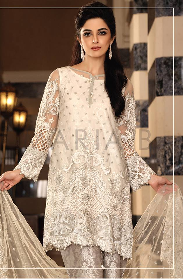 Fantastic Maria B Mbroidered Eid Collection 2016 Best Women Dresses 15