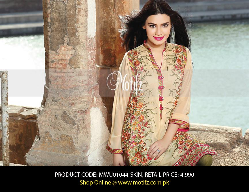 Motifz Embroidered Chiffon Eid Festival Collection 2015 with Prices (10)