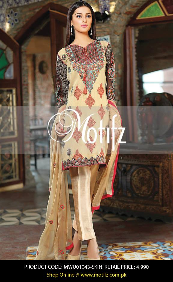 Motifz Embroidered Chiffon Eid Festival Collection 2015 with Prices (12)