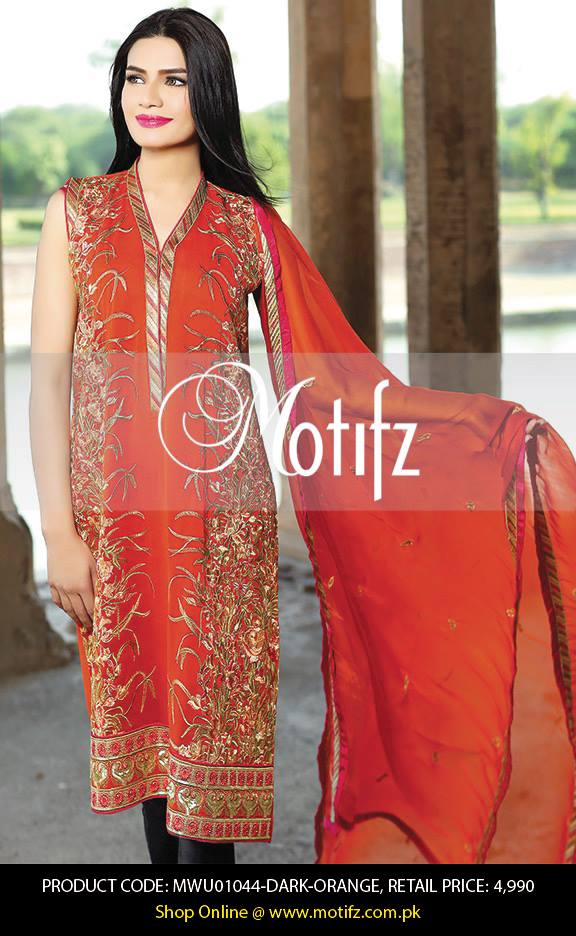 Motifz Embroidered Chiffon Eid Festival Collection 2015 with Prices (13)