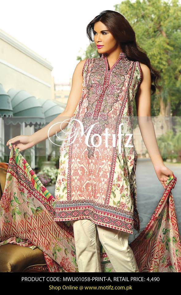 Motifz Embroidered Chiffon Eid Festival Collection 2015 with Prices (16)