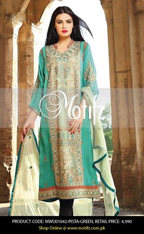Motifz Embroidered Chiffon Eid Festival Collection 2015 with Prices (25)