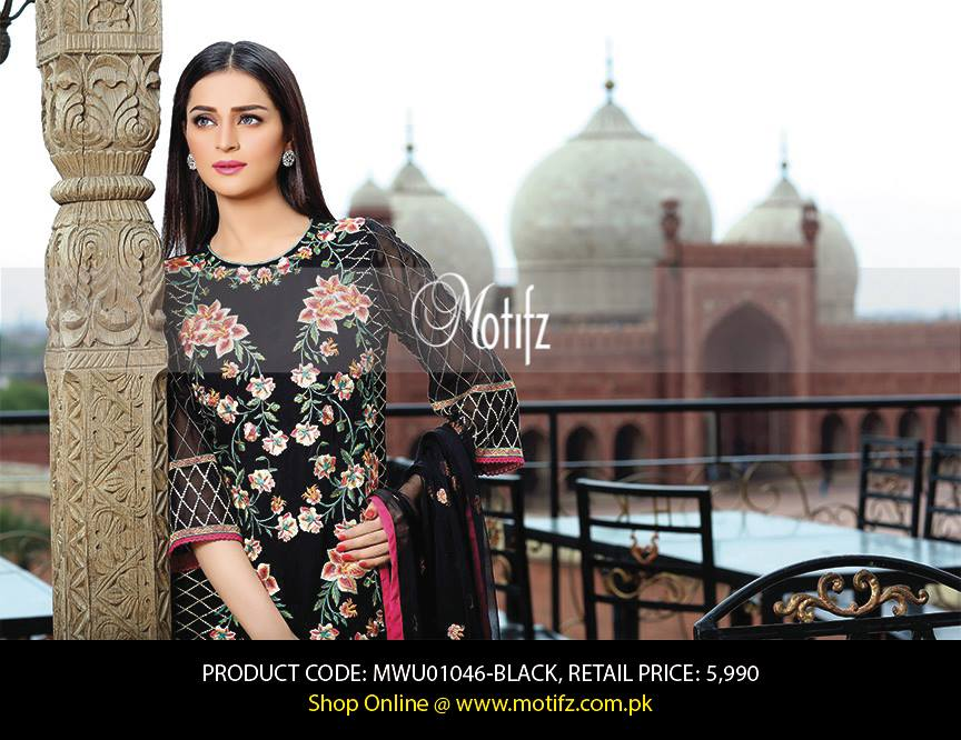 Motifz Embroidered Chiffon Eid Festival Collection 2015 with Prices (3)