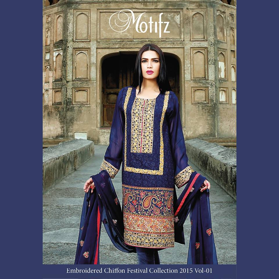 Motifz Embroidered Chiffon Eid Festival Collection 2015 with Prices (31)