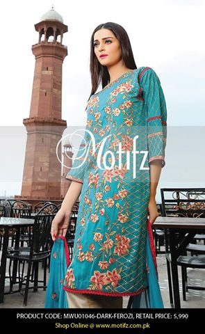 Motifz Embroidered Chiffon Eid Festival Collection 2015 with Prices (4)