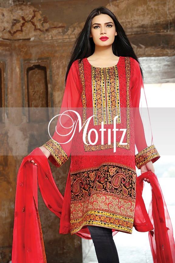 Motifz Embroidered Chiffon Eid Festival Collection 2015 with Prices (5)