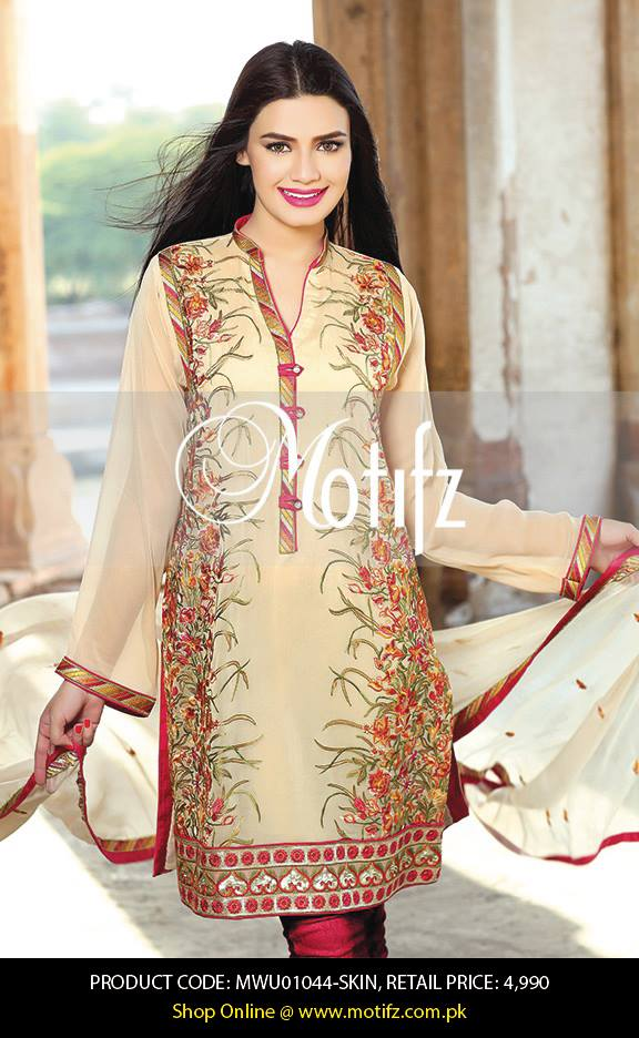 Motifz Embroidered Chiffon Eid Festival Collection 2015 with Prices (6)