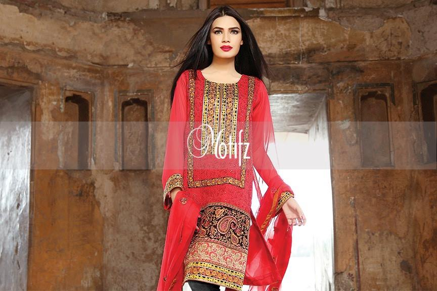 Motifz Embroidered Chiffon Eid Festival Collection 2015 with Prices (7)