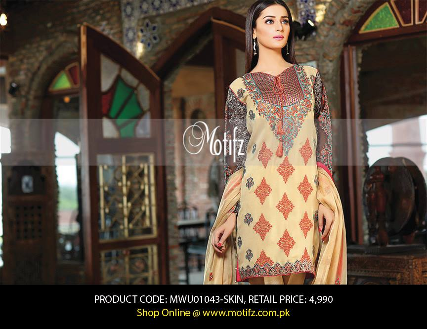 Motifz Embroidered Chiffon Eid Festival Collection 2015 with Prices (8)