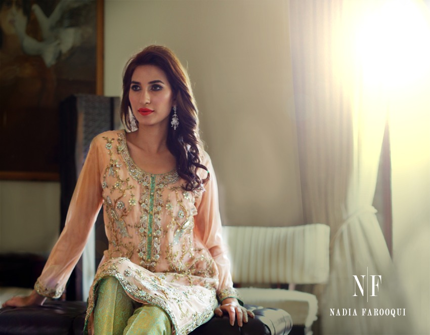 Nadia Farooqui Latest Eid Wear Dresses Formal Collection for Women 2015-2016 (1)