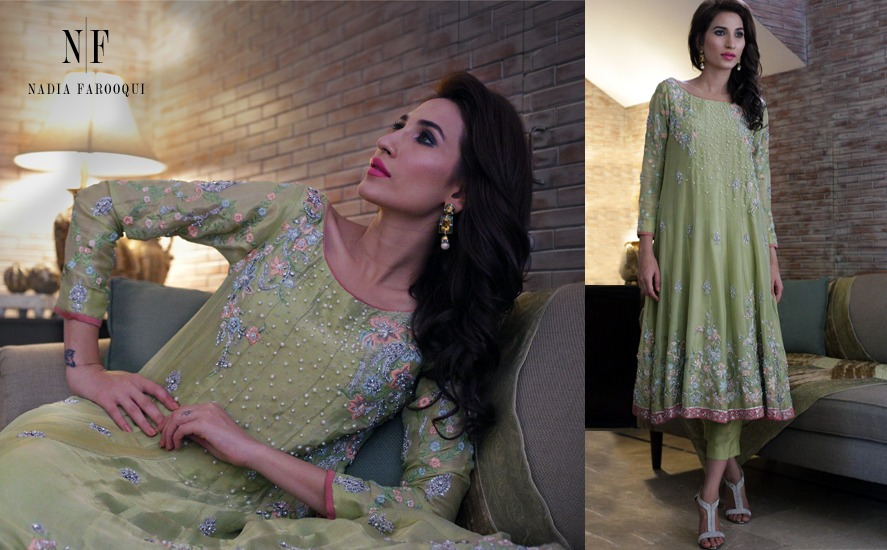 Nadia Farooqui Latest Eid Wear Dresses Formal Collection for Women 2015-2016 (13)