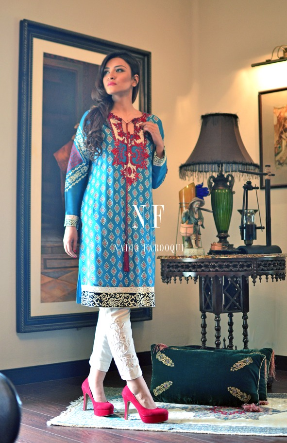 Nadia Farooqui Latest Eid Wear Dresses Formal Collection for Women 2015-2016 (14)
