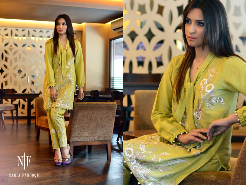 Nadia Farooqui Latest Eid Wear Dresses Formal Collection for Women 2015-2016 (16)