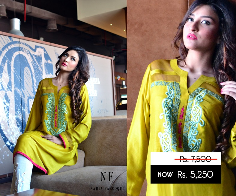 Nadia Farooqui Latest Eid Wear Dresses Formal Collection for Women 2015-2016 (2)