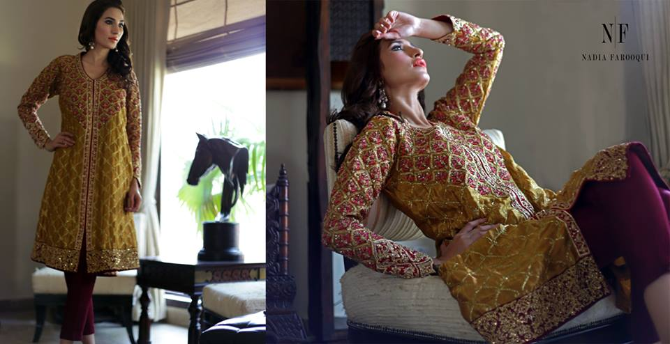 Nadia Farooqui Latest Eid Wear Dresses Formal Collection for Women 2015-2016 (3)