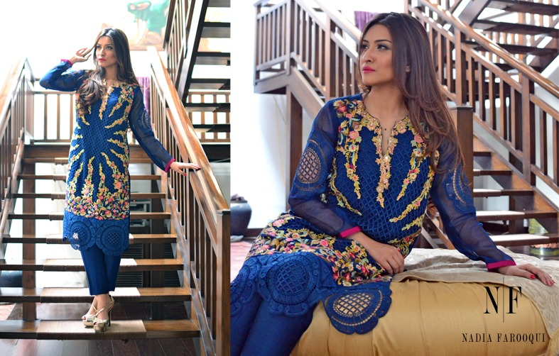 Nadia Farooqui Latest Eid Wear Dresses Formal Collection for Women 2015-2016 (5)