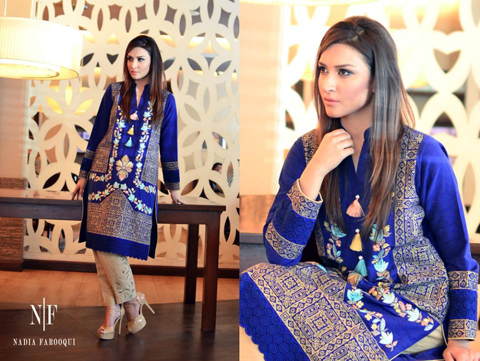 Nadia Farooqui Latest Eid Wear Dresses Formal Collection for Women 2015-2016 (6)