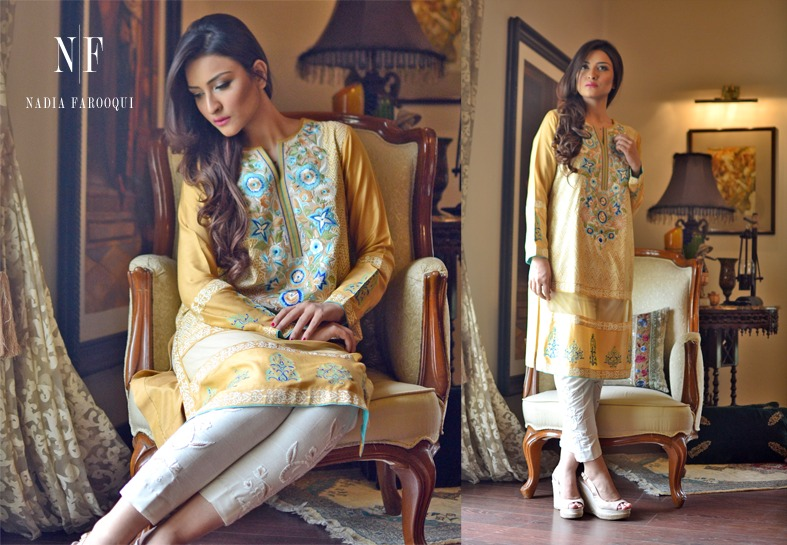 Nadia Farooqui Latest Eid Wear Dresses Formal Collection for Women 2015-2016 (7)