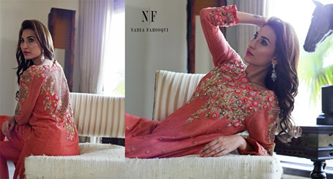 Nadia Farooqui Latest Eid Wear Dresses Formal Collection for Women 2015-2016 (8)