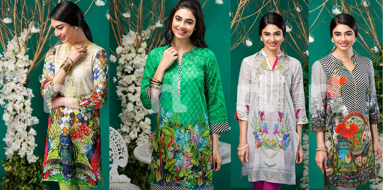 Nisha by Nishat Linen Colorful Tunics & Kurtis Pret Eid Collection 2016-2017