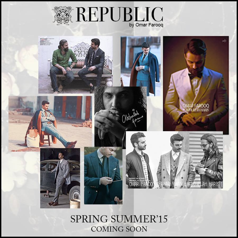 Republic By Omer Farooq Men Party Wear Suits Summer Collection 2015-2016 (3)