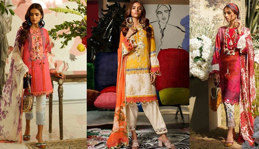 Sana Safinaz Stylish Lawn Suits Mahay Collection 2020-2021 with Prices