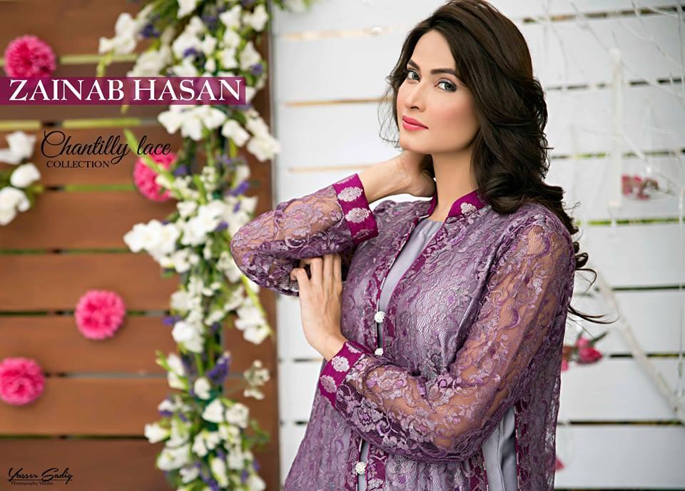 Zainab Hasan Chantilly De Lace Eid Formal Dresses Collection 2015-2016 (15)