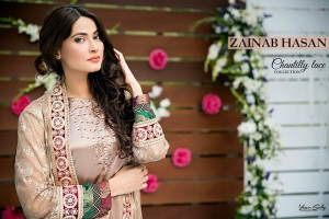 Zainab Hasan Chantilly De Lace Eid Formal Dresses 2016-2017 Collection