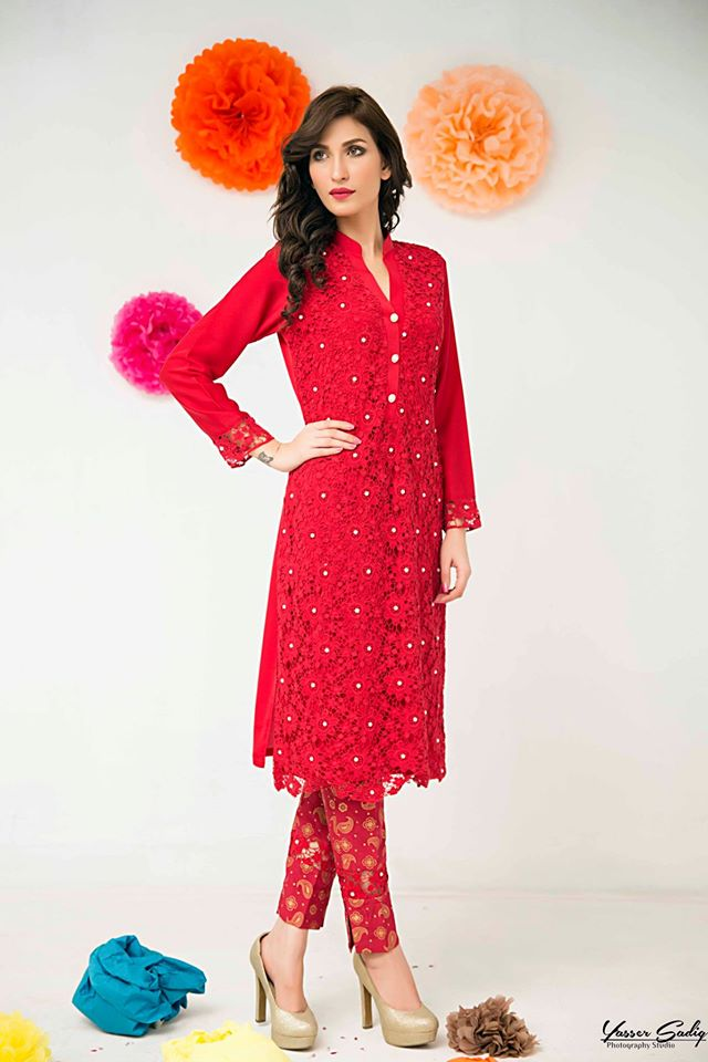 Zainab Hasan Chantilly De Lace Eid Formal Dresses Collection 2015-2016 (19)