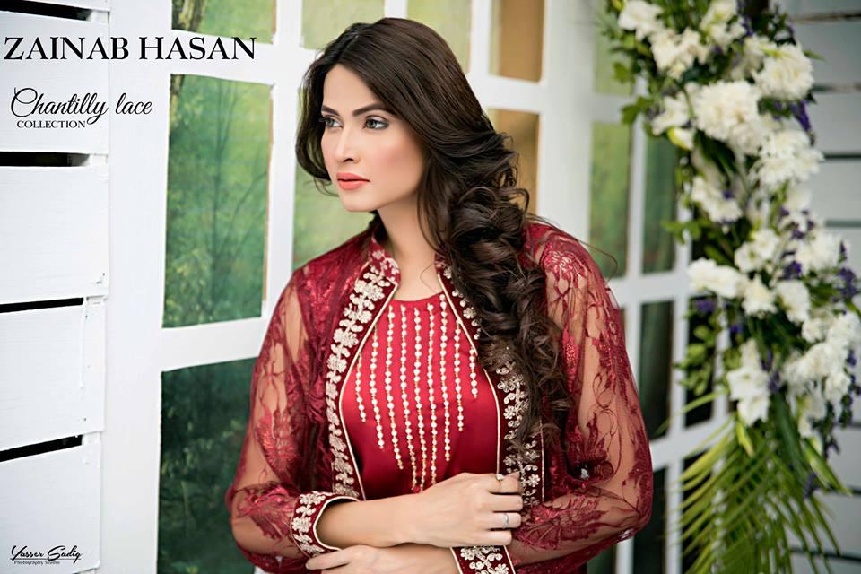 Zainab Hasan Chantilly De Lace Eid Formal Dresses Collection 2015-2016 (29)