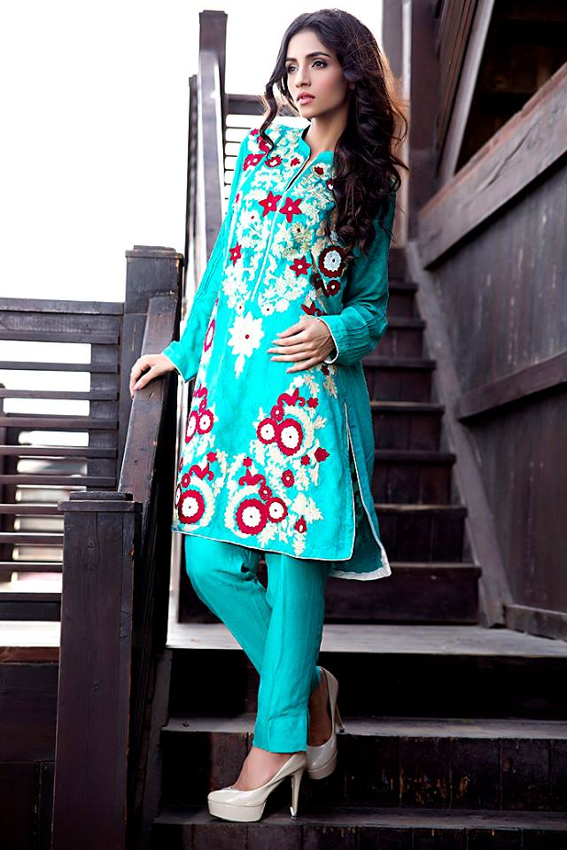 Zainab Hasan Chantilly De Lace Eid Formal Dresses Collection 2015-2016 (33)