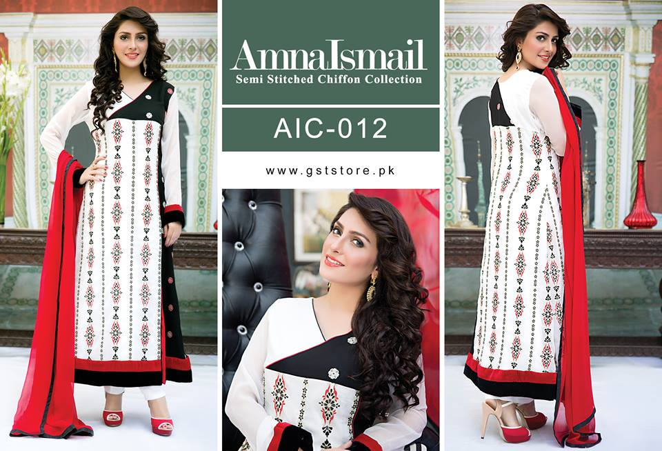 Amna Ismail Fancy Chiffon Dresses Embroidered Festival Collection 2015-2016 (10)
