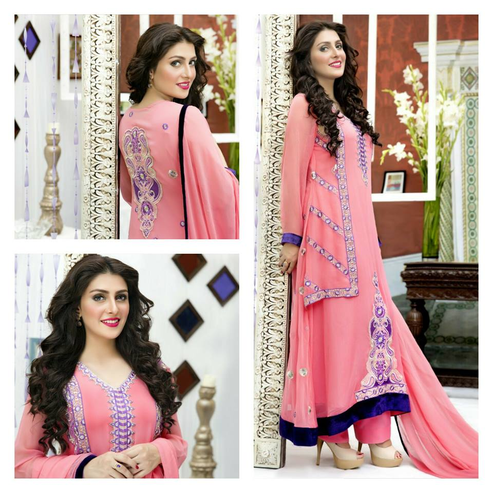 Amna Ismail Fancy Chiffon Dresses Embroidered Festival Collection 2015-2016 (12)