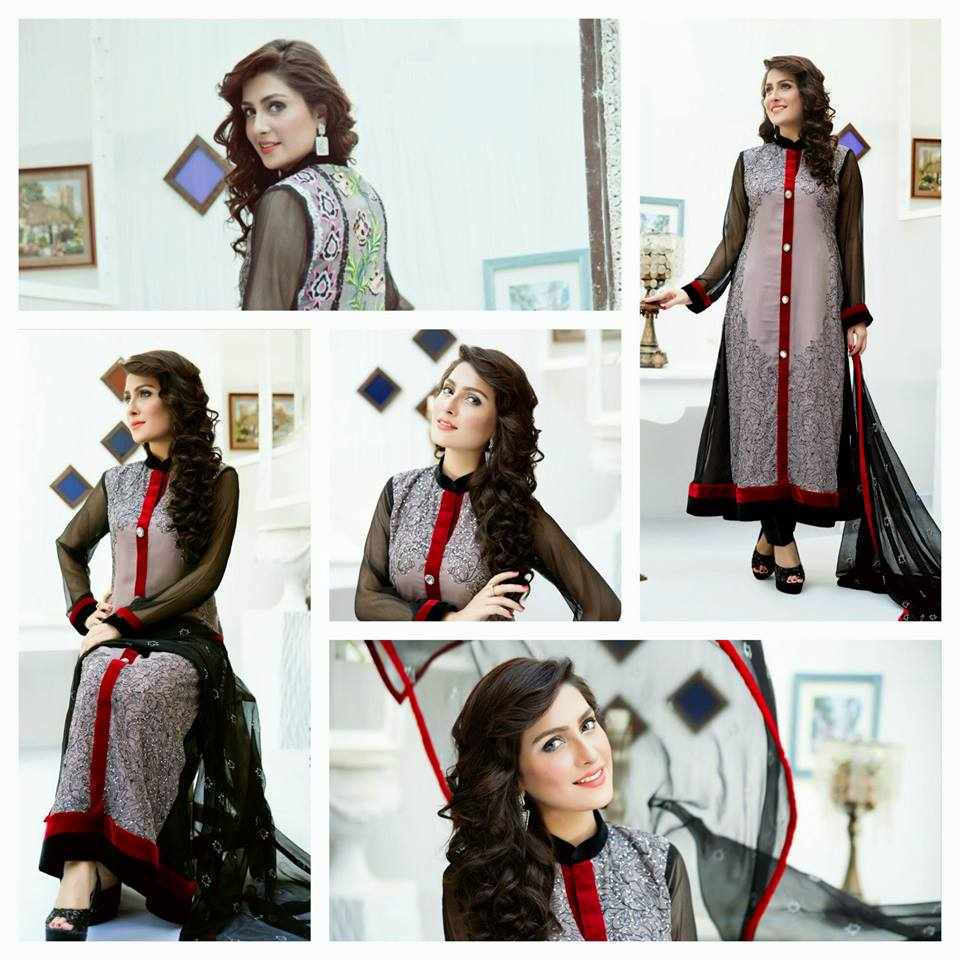 Amna Ismail Fancy Chiffon Dresses Embroidered Festival Collection 2015-2016 (13)
