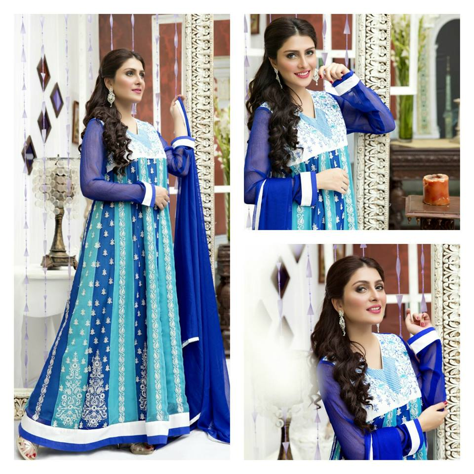 Amna Ismail Fancy Chiffon Dresses Embroidered Festival Collection 2015-2016 (14)