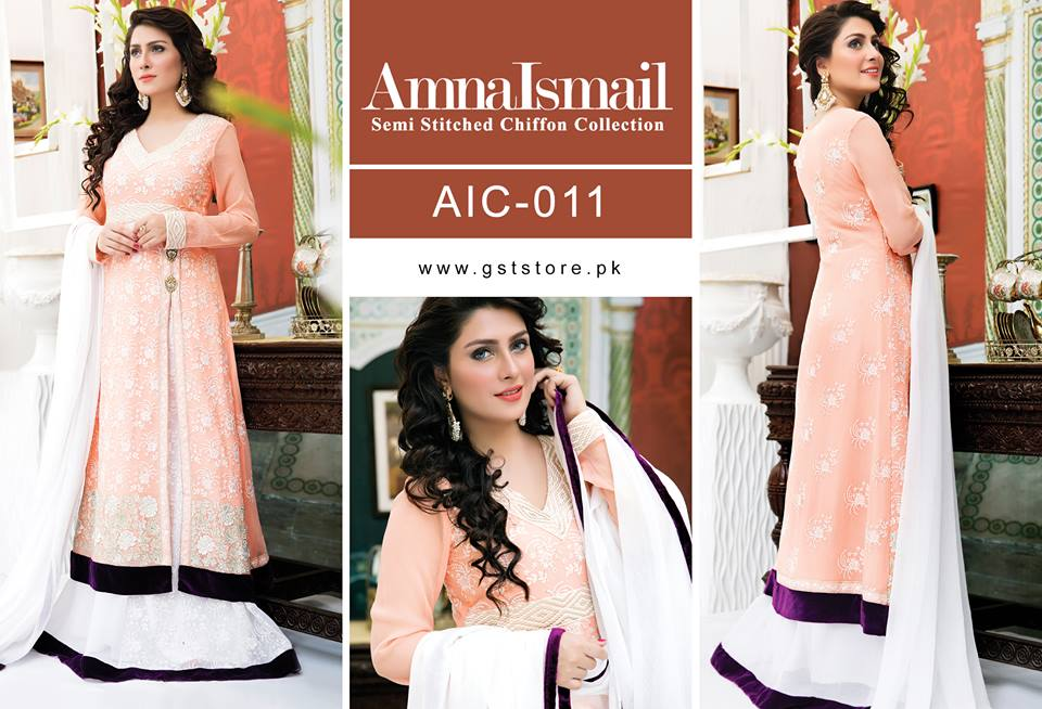 Amna Ismail Fancy Chiffon Dresses Embroidered Festival Collection 2015-2016 (15)