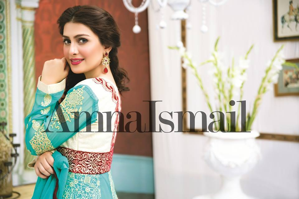 Amna Ismail Fancy Chiffon Dresses Embroidered Festival Collection 2015-2016 (2)