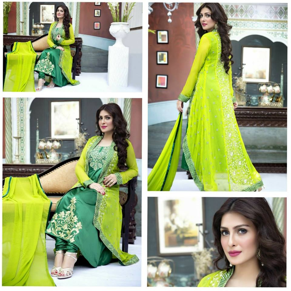 Amna Ismail Fancy Chiffon Dresses Embroidered Festival Collection 2015-2016 (6)