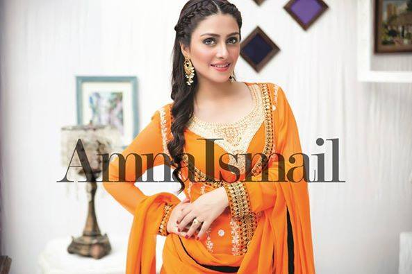 Amna Ismail Fancy Chiffon Dresses Embroidered Festival Collection 2015-2016 (9)