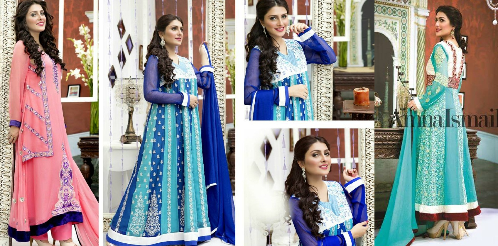 Amna Ismail Fancy Chiffon Dresses Embroidered Festival Collection 2015-2016