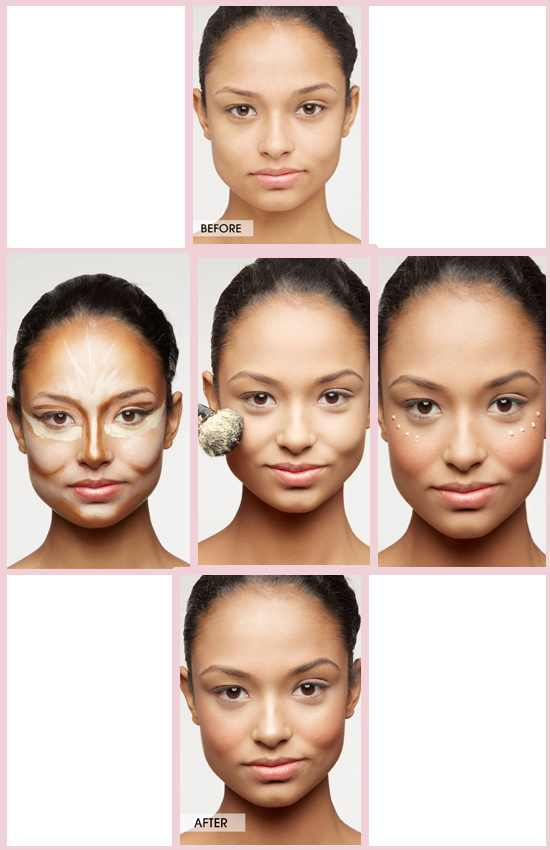 Applying Concealer on eyes and cheekbones
