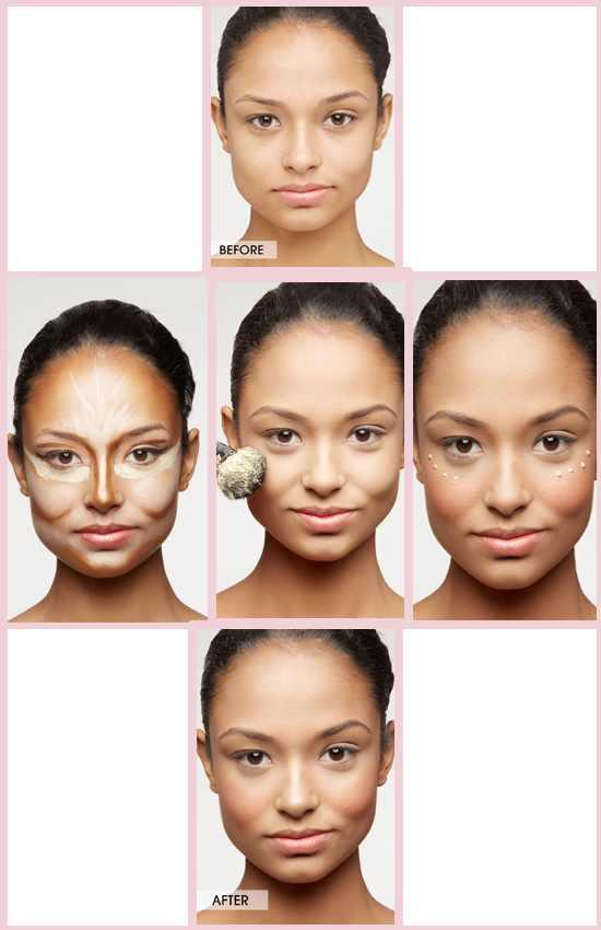 Applying Concealer on eyes and cheekbones