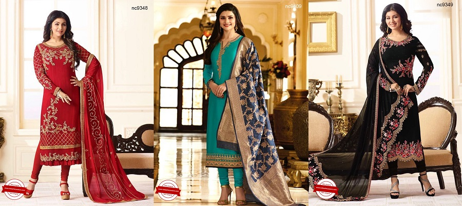 Ayesha Takia Indian Fashion Designer Churidar Suits Designs Collection
